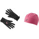 asics Performance Pack Gloves and Beanie sport pink
